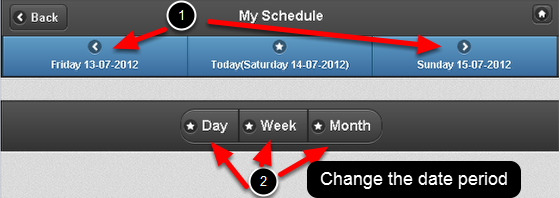 Sometimes when you load your My Schedule page it may be completely empty because no events are planned/entered for today's date.
