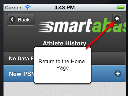 If you need to return to the Home Page, click the Home Page icon at any time.