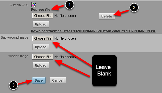 You can choose to leave the styling, header and background images as blank. This just means the main site styling will appear (e.g the styling that appears in the image in the step above).