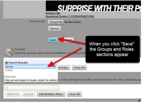 """Once you create a new Page Layout and you click on """"Save"""", additional Groups and Roles sections appear below the Save button. The Page Layout you have created can now be applied to a Group/s or a Role/s."""