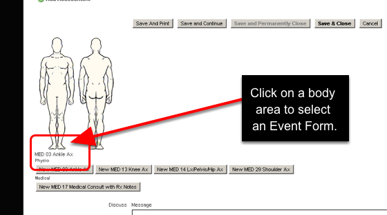 Now, you can set up the Related Events to appear by body part/s in a Related Events Body Diagram (as shown here)