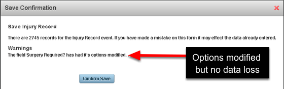 Then click save and Save Confirmation