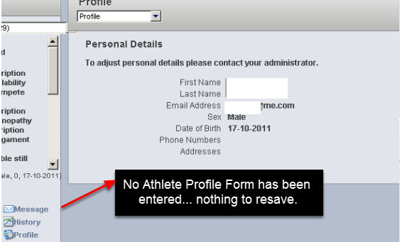 N.B. New Profile records are NOT created with the Resave. Only existing Profile Page records are updated.