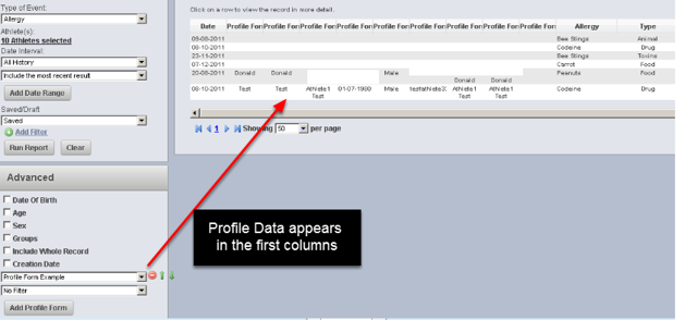 Previously, to get a list of any Profile Data entered for an athlete, you had to run a report on the Reports page and include the specific Profile Page in the report and then do an excel export.