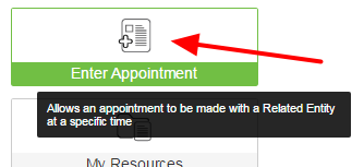 For example, on the Enter Appointment Module