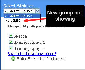 Went to Enter Data and the Personal Group was not showing?