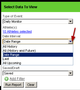 Set up any date restrictions- All history, between dates (date range), or specific range (last 1 year)