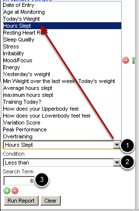 You can add a filter to limit the data being displayed and to become more focused with your reporting. E.g Sleep <6 hours