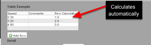 When data is entered into the table, the Table rows count will happen automatically