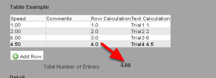 The Calculation field using the Row () function is being referenced in a Table Calculation field (as outlined in the image in the step above)