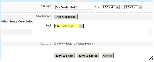 Enter in some test data for an test athlete for the Field that you have set up the Performance Standard Autocolour