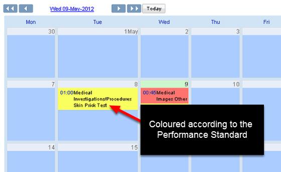 Check the colour on the Calendar