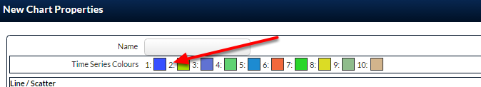 The selected colour appears. Select additional colours using the same <strong>work flow</strong>, and so on and so forth.