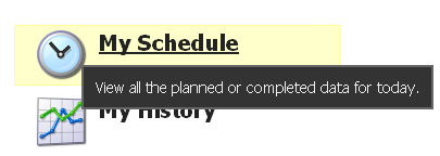 "Click on ""My Schedule"""