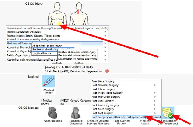 e. Illness or Injury Codes