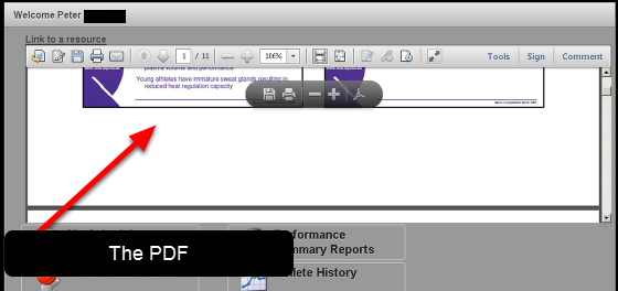 If you have set this up correct, the PDF will appear on the Home Page on some browsers in the Messages Section