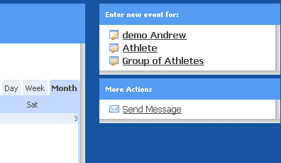 Other modules of the system where you can send messages from: Calendar