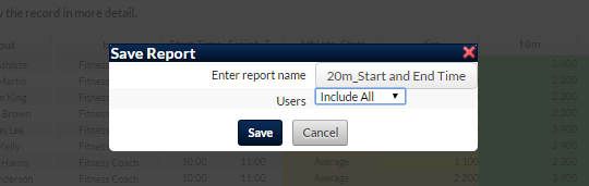 Reports can be saved to included these two fields