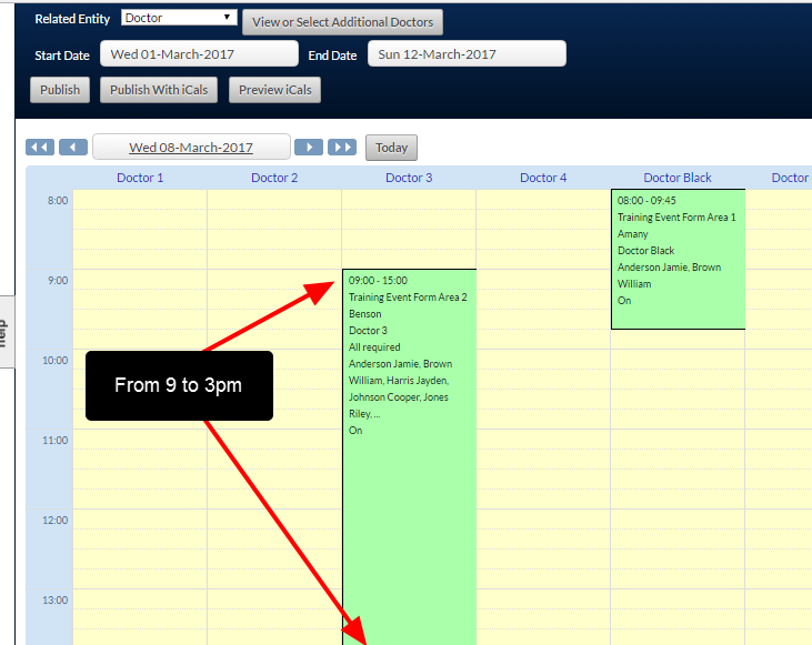 N.B. This is how the current preview schedule would display the updated scheduled event