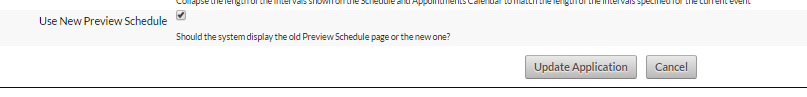 """When the """"Use New Preview Schedule"""" is ticked the layout will change as shown in the images below"""