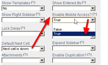 """To enable Mobile Access your System Builder must to go to the Builder Site and Set the """"Enable Mobile Access?"""" to """"True"""" in the Advanced Form Properties"""