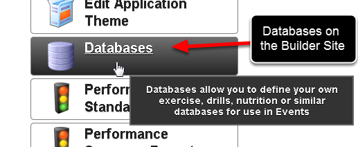 "To set up a database to be able to be entered in the Apple or Android application you must open the database from the ""Databases"" list on the Builder site"