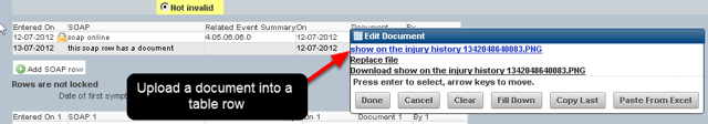 If you had a Document Upload field in a table that has a locked row setting it was not possible to open the document because the row was locked. Now when you upload a file it is available.