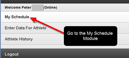 Now go to the Home Page and click on the My Schedule Button