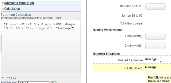 "Using the ""and"" in a nested if/then equation allows you to write equations much more easily"