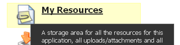 To add or remove a Resource, click on My Resources