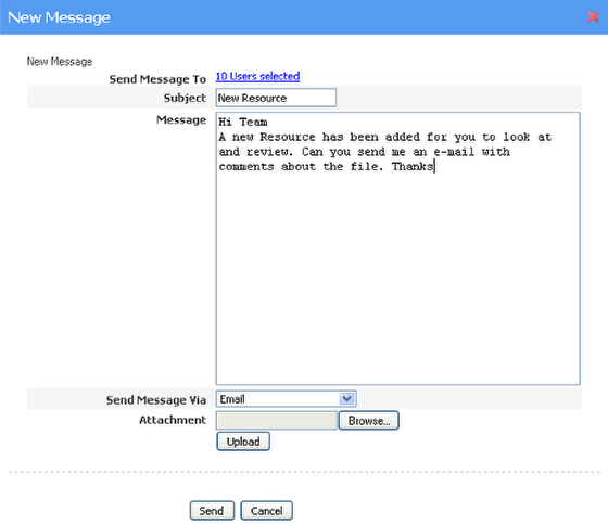 Messaging / Alerting your users that there is a new Resource