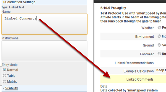 Once you click on Linked Text, you will be able to link to any Event Form field in the system