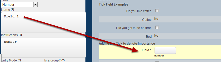 Set up the field in the form to capture your data. This example shows a numeric field being added