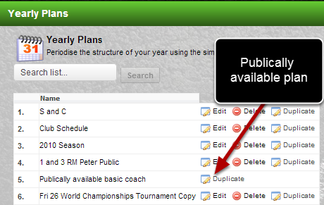 You can now duplicate Publically available yearly plans and use them for your own plans