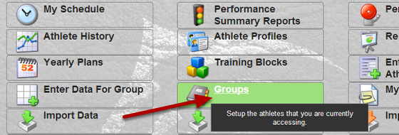 When you go to your groups page there is now a button to display the number of athletes in a group and any subgroups.