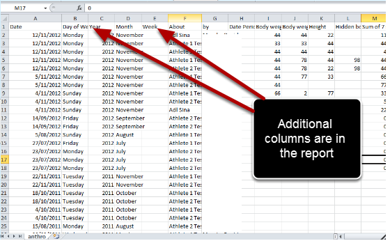 Open the csv output (as shown here), copy the data and paste it into the Original Excel Report