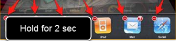 Hold you finger on one of the open applications and a red close button will appear for All open apes. Click the red close button for the Smartabase App (not displayed in this image)
