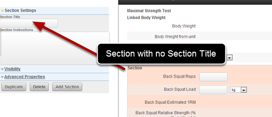 N.B. If you have a Section that has no Section Title (name), the fields in that section will always appear, but you will not be able to select/deselect any Blank Sections