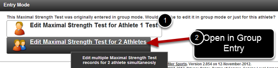 Click to Edit the Event Form for more than 1 Athlete (e.g for 2 Athletes)