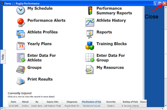 5.0 Working on the installed software: the Same System Features and Front Page Reports