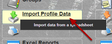 Now you can import in Profile Data
