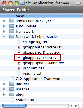 Update glxappLauncher Stack Script