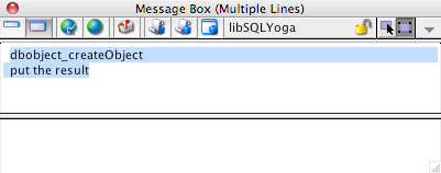 1) Create a Database Object