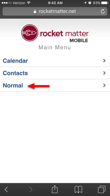 """3. Click """"Normal""""."""
