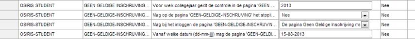 Beheer > beheer en mutatieverslagen > configuratieparameters