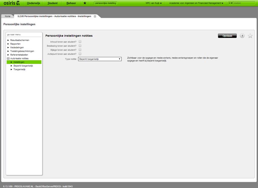 OSIRIS - 6.13.1/09 - PRDOSI.AVANS.NL - Google Chrome