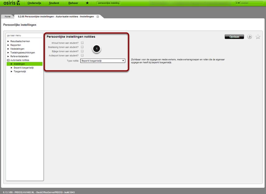 Ga naar: Groene bovenbalk > Naam gebruiker > Persoonlijke instellingen > Instellingen