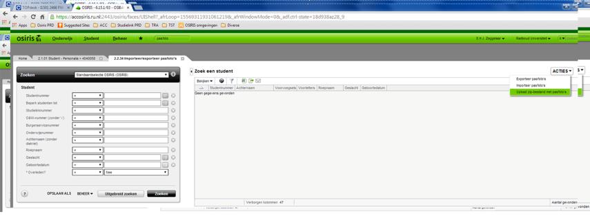 Upload het zip bestand in menu 2.2.34