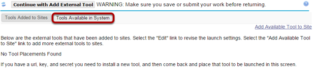 Click Tools Available in System.