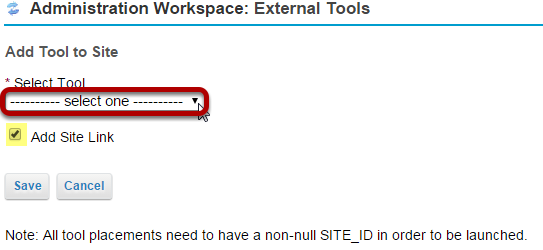 Select the LTI tool.
